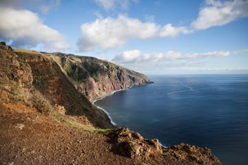 Portugal, Madeira Island, Ponta do Pargo with rocks and cliffs