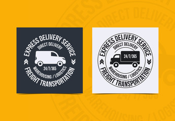Delivery Service Logo Layouts