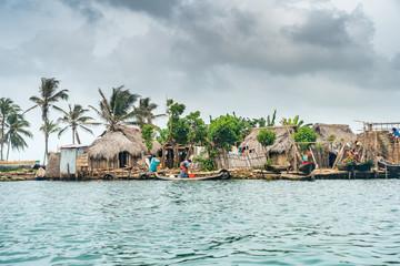Dorf in Guna Yala, San Blas Inseln, Panama
