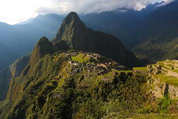 Machu Picchu am Abend