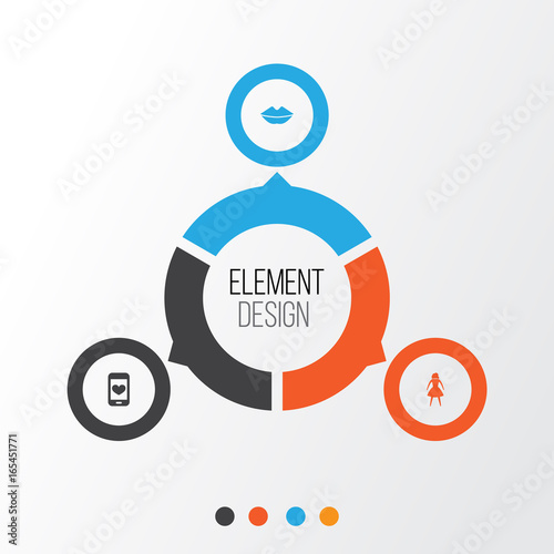 Mothers Day Icon Design Concept Set Of 3 Such Elements As Female