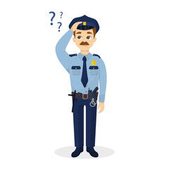 Policeman with questions.