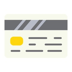 Credit card flat icon, business and finance, banking sign vector graphics, a colorful solid pattern on a white background, eps 10.