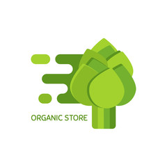 Vector logo for organic store