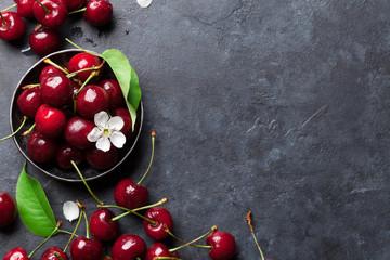Fresh garden cherry