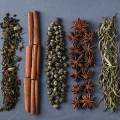 Various teas an spices