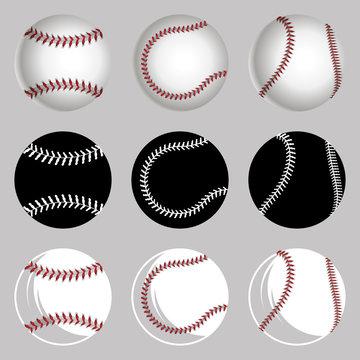 Set Baseball balls