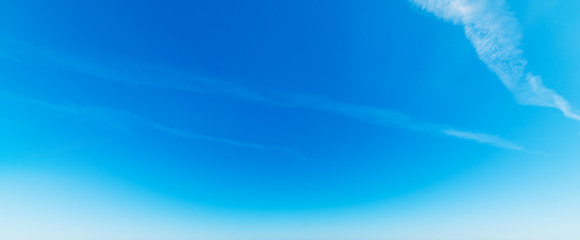 Blue sky and small clouds