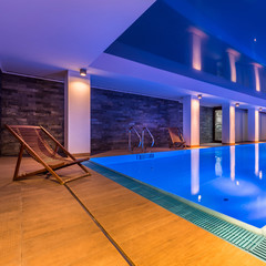 Luxurious indoor swimming pool