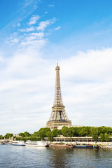 Eiffel tower and Seine river view