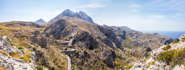 Sa Calobra road - Carretera de Sa Calobra in Mallorca Island, Spain. This road is one of the most scenic and dangerous road in the world.