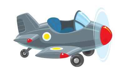 Funny retro plane