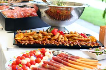 mediterranes Essen im Sommer