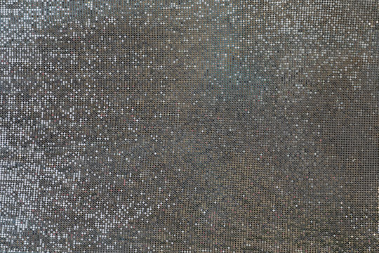 Silver background, chain mail