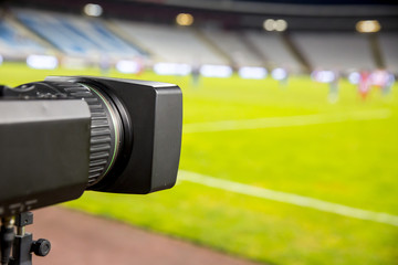 Video camera at the stadium
