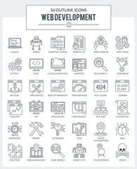 WEB Development and Programming Icons