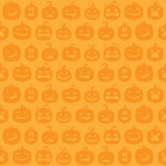 Halloween Kürbisse Hintergrund Muster nahtlos wiederholend