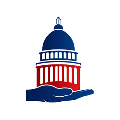 Capitol Hold in Hand Logo Illustration