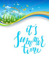 Summer nature card