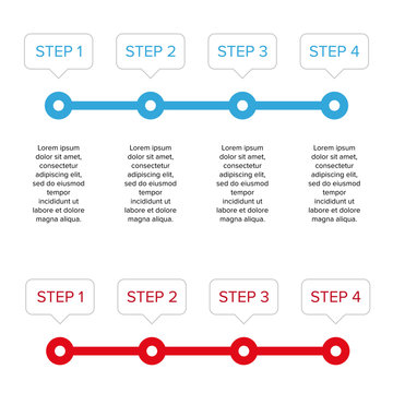 Step one two three four progress bar