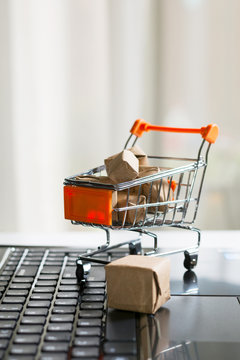 Online shopping and commerce concept