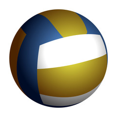 Isolated volleyball ball