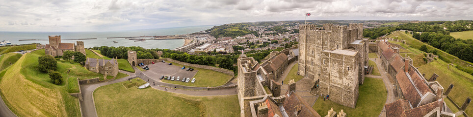 Aerial view of Dover Castle