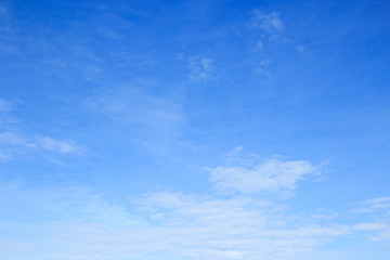Beautiful blue sky and clouds background