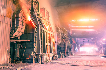 Blast furnace smelting liquid steel in steel mills