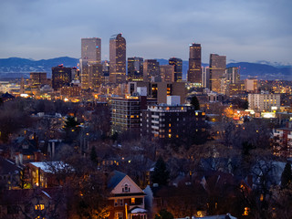 Downtown Denver Colorado Skyline Buildings
