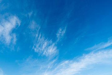 Blue sky with clouds background. Nature background