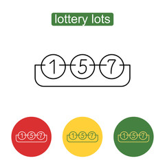 Lottery number balls line icon.
