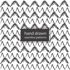 hand drawn marker and ink seamless patterns