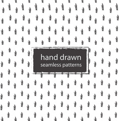 hand drawn marker and ink seamless patterns-4
