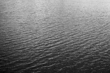 Black and white water.