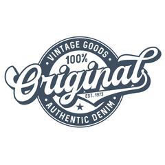 Original Vintage Goods - Tee Design For Print