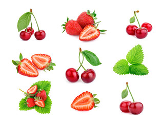 Berry theme mix composed of different images.