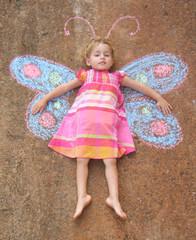 Sidewalk Chalk Butterfly