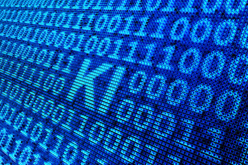 Obraz Pixel - künstliche intelligenz - fototapety do salonu