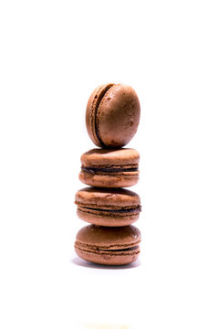 Chocolate macrons biscuits.