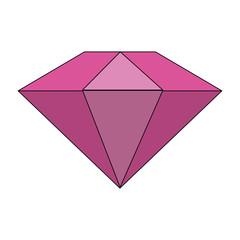 colorful diamond stone cartoon