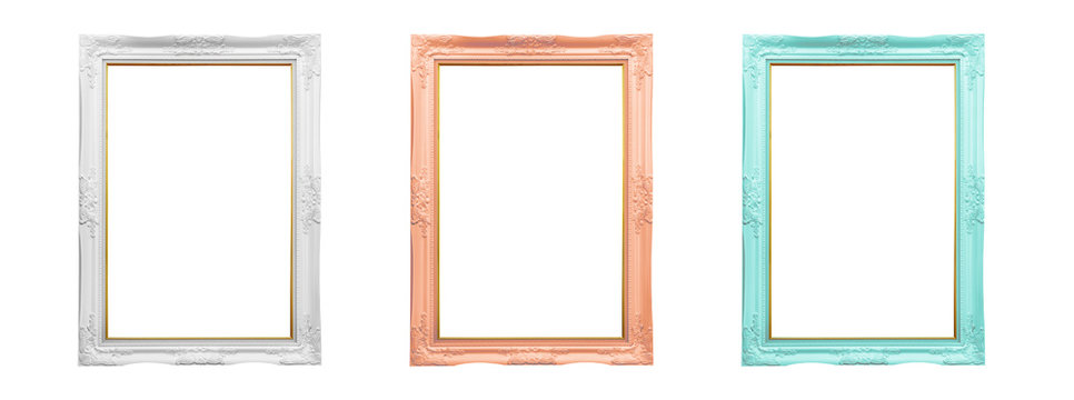 Picture frame isolated on white background., This has clipping path.