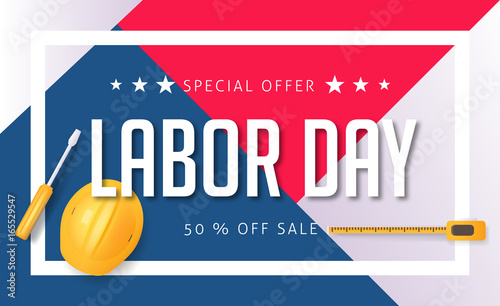 labor day sale promotion advertising banner template american labor