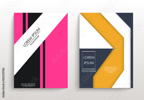 covers with minimal design geometric backgrounds for your design