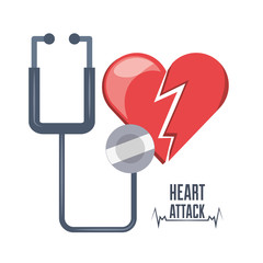 heart attack and stethoscope and heartbeat