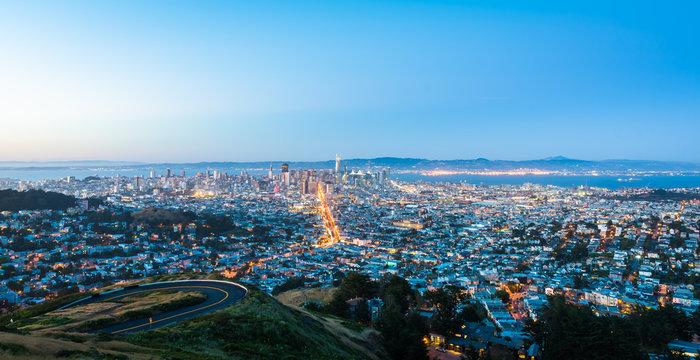 San Francisco night cityscape