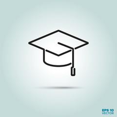 Graduation Mortarboard line icon