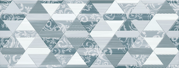Digital tiles design. Colorful ceramic wall tiles decoration