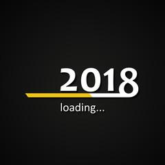 Loading 2018 inscription bar - flat design template, yellow edition
