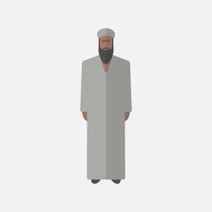 arabic man, flat icon.
